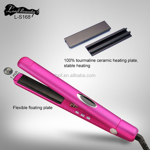 cool hair iron lcd hair straightener custom flat irons with private label