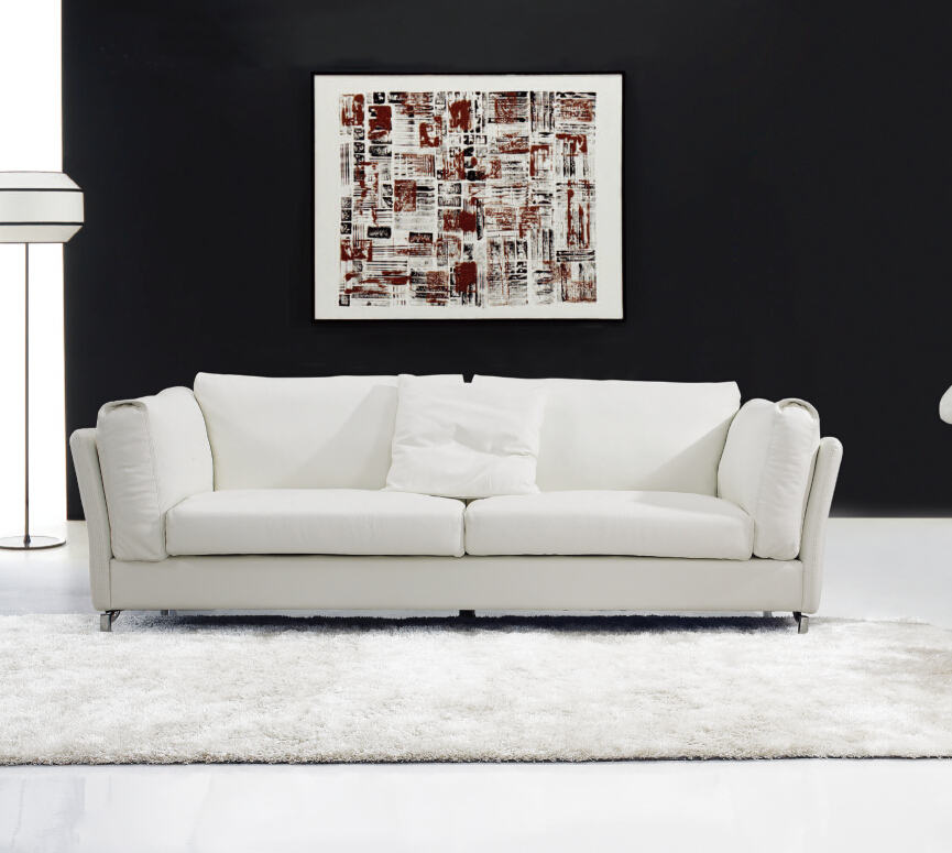 Modern Simple Sofa Designs Livign Room Sofa Set Leather Genuine White Sofa Oriental Style