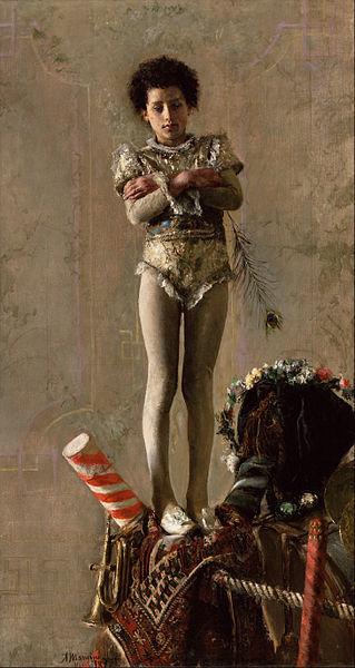 Canvas Art Prints Stretched Framed Giclee World Famous Artist Oil Painting Antonio Mancini <font><b>Italian</b></font> Il Saltimbanco