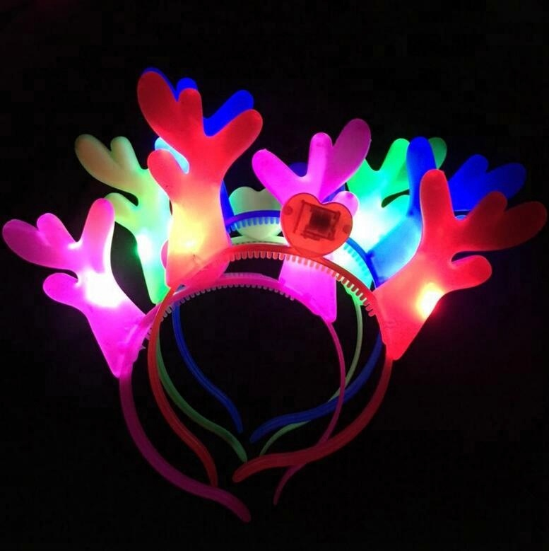 2018 popular product decorative flashing headband, happy new year headbands multi-colors led headwear for party festival show