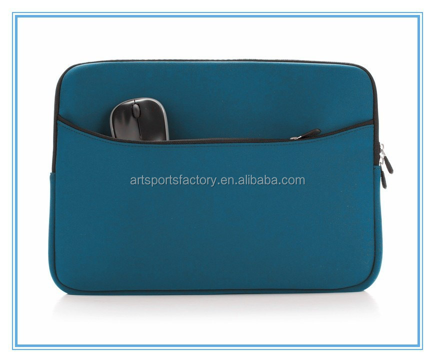 factory price 14inch neoprene notebook bag with pocket