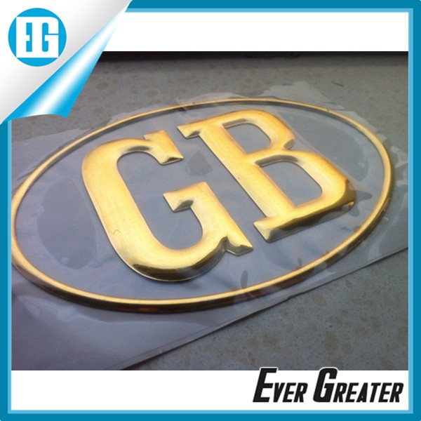 Uv resistant outdoor durable custom logos metallic 3d sticker