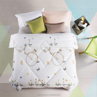 wholesaler 100% cotton custom printed summer polyfiber quilts/comforter/duvet made in china