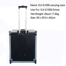 Black Aluminum Carrying suit case on wheels for DJI S1000 Drone