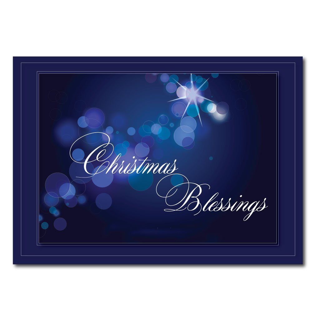 get quotations christian christmas greeting card h1512 christmas blessing is the cover message and the - Christian Christmas Card Messages