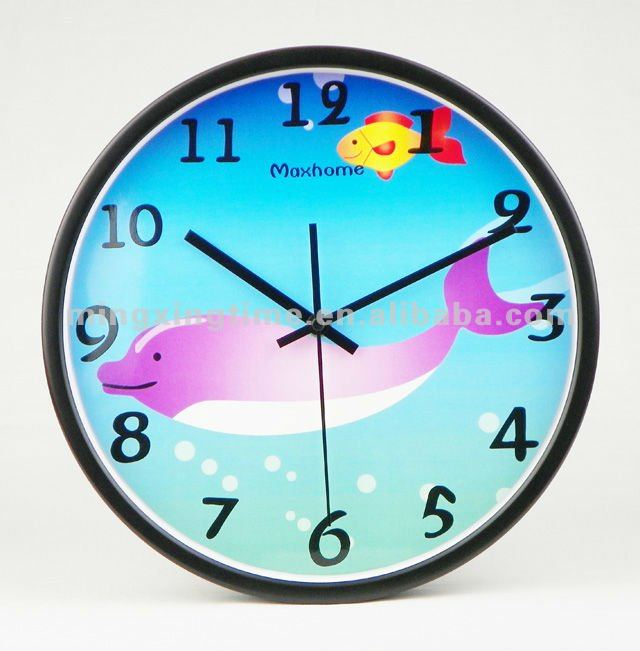 Imágenes de dibujos animados de reloj de pared 3d para tipo estilo de la moda