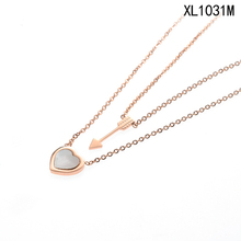 New hot sell chiave per il cuore Cupido necklace con <span class=keywords><strong>shell</strong></span> madreperla ciondolo