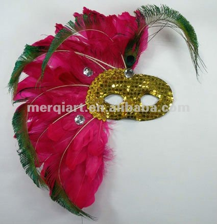 Hot sell charm carnival masks paty masks feather mask