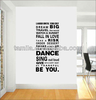 Laugh Until You Cry Quote Living Room Bedroom Wall Art Decal Sticker Buy Living Room Decorative Wall Sticker Vinyl Wall Decal Stickers Islamic Wall