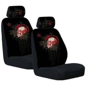 Front Low Back Car Truck Suv Mohawk Skull Seat Cover Buy