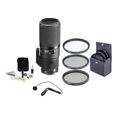 Nikon Nikkor 200mm f/4D ED-IF AF Lens Bundle. USA. Value Kit with Accessories