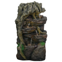 High Quality 5 Tier Stone Waterfalls Small Outdoor Garden Water Fountain