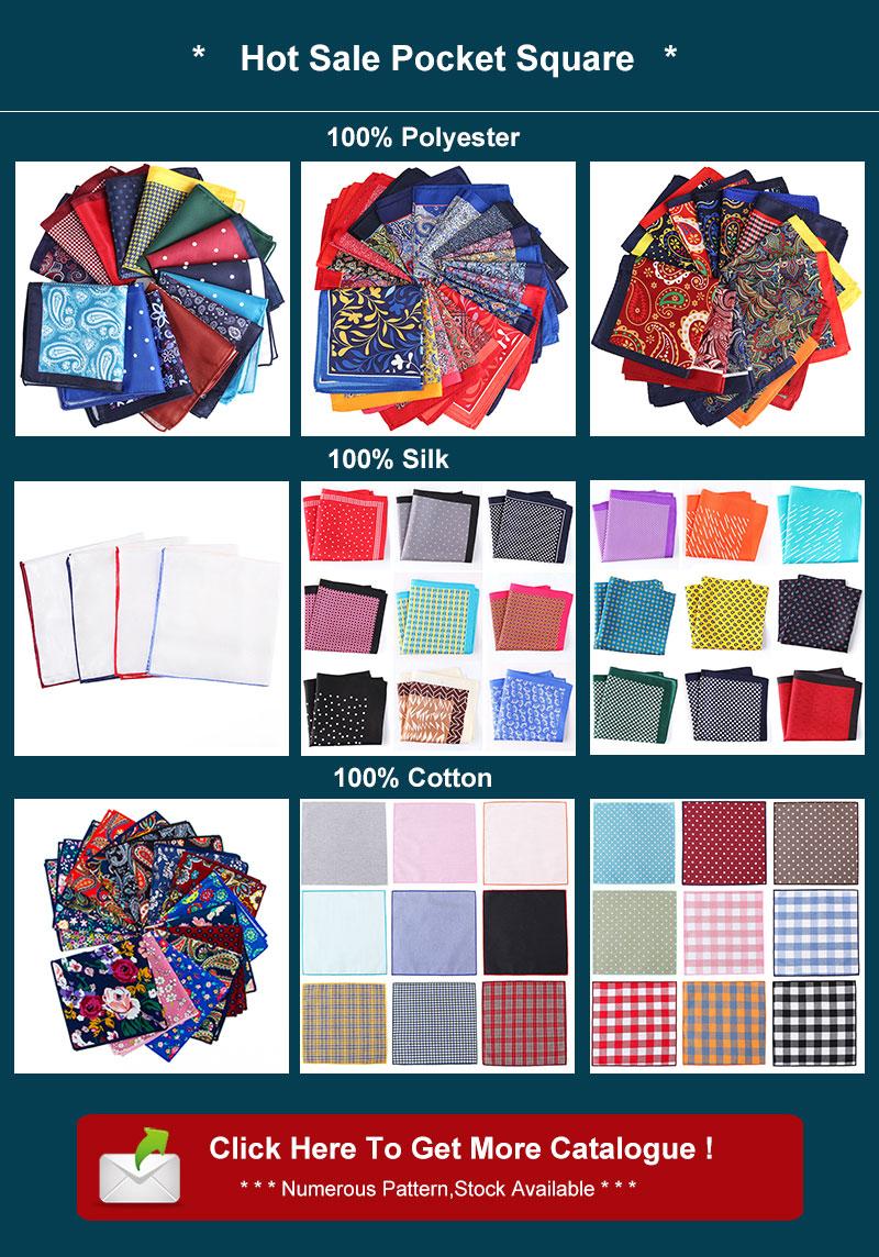 NO MOQ 100% algodón estampado Floral Paisley pañuelo para hombres 25x25cm