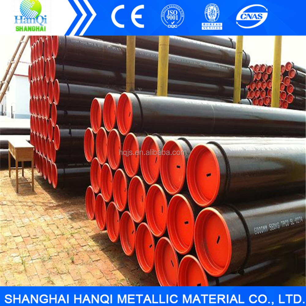 Non alloy ASTM A53 gr.b sch40 seamless carbon steel pipe manufacture