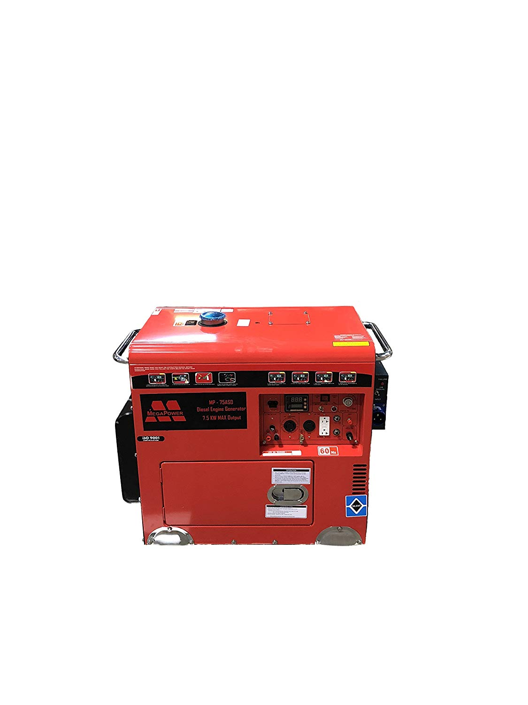 MegaPower Diesel Generator 7.5KW Peak 5.5KW Continuous