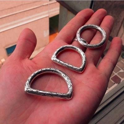 Diy Leathercraft оборудование сумочка D кольцо и о-кольцо античная посеребренная Karaqusa шаблон
