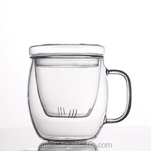 300ml 400ml 500ml Wholesale Reusable Handmade Borosilicate Glass Tea Infuser Mug