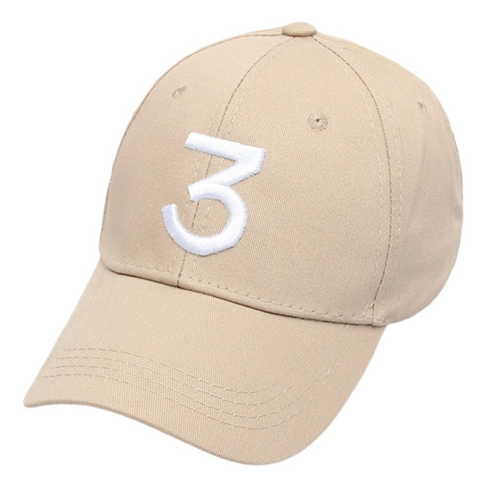 0728d51e6fa Get Quotations · IVYRISE Embroider Chance Baseball Caps Hats Cool Baseball  Rapper Number 3 Caps