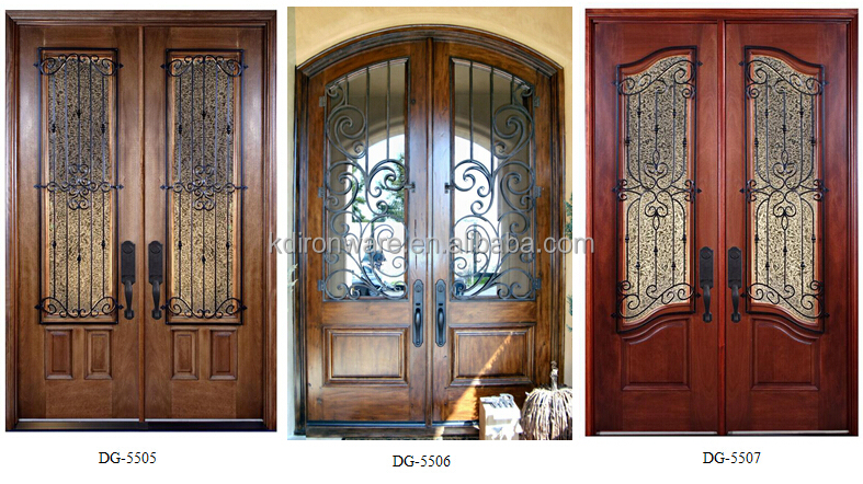 Door window grates decorative forging craft wrought iron for Simple main door design