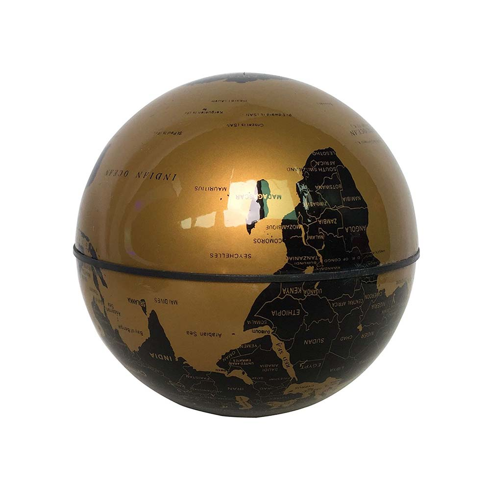 Globe World Map yellow