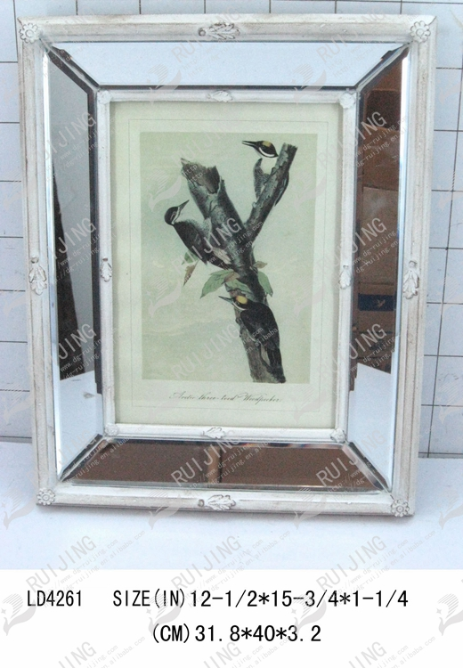 Mirrored Picture Frame Decorative Glass Photo Frame