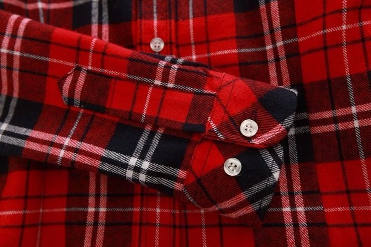 2017 Hot Sale Autumn Winter Ladies Female Casual Cotton Lapel Long-Sleeve Plaid Shirt Women Slim Outerwear Blouse Tops Clothing
