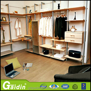 Merveilleux Clothes Shop L Shape Pole System Walk In Wardrobe Closet In New American  Design