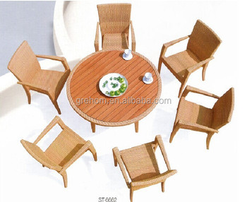 Outdoor Furniture China Cheap Wooden Top Dining Table Sets Buy Dining Table Wooden Top Table