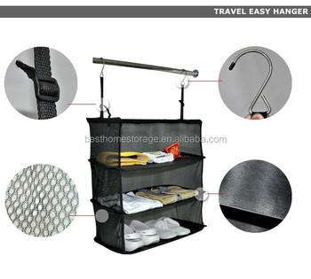 Travel Suitcase Easy Hanger Hanging Clothes Closet Organizer