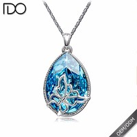 New elegant hot large blue crystal necklace crystal jewelry