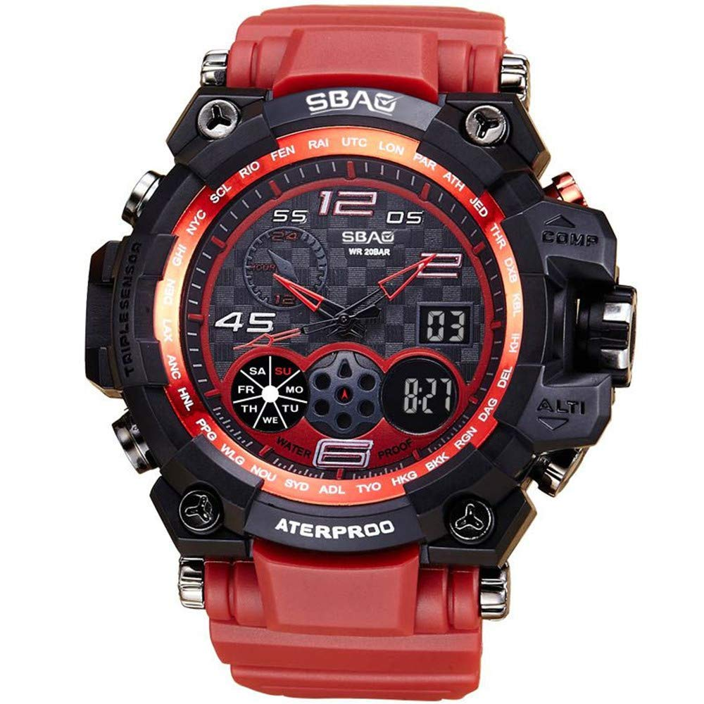 AKwell Watch LED Men Waterproof Sports Watches Shock Digital Electronic Military Men's Sport Watches