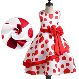 low price hand made polka dot casual baby girl prom vest dress