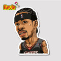 Bevle 9321 NBA Bastetball Super Star Allen Iverson Waterproof Stickers Laptop Luggage Fridge Car Graffiti Cartoon