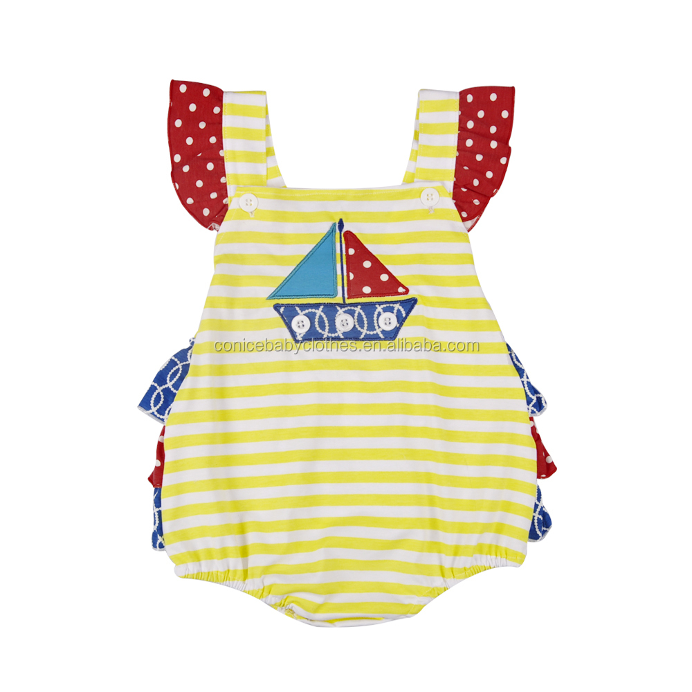 Conice Wholesale 4th of July baby rompers