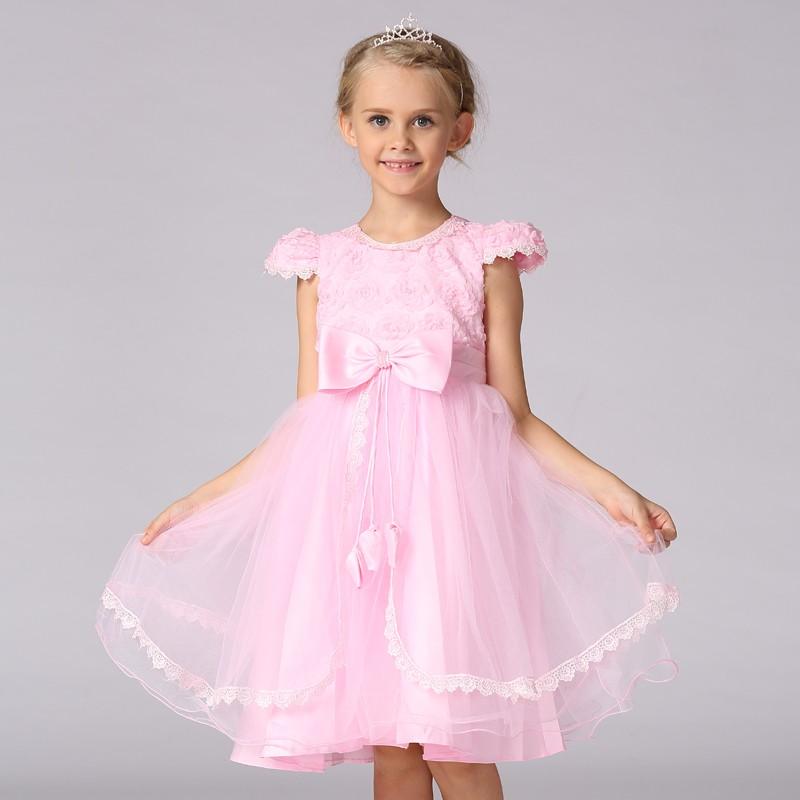 Boda Dressrose Rojo Cumpleaños Vestido Para Niña Vestido De ...