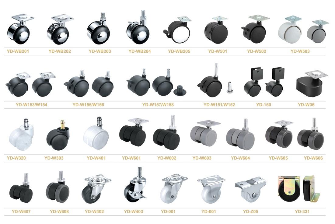 40mm 50mm furniture screw type caster wheel from caster. Black Bedroom Furniture Sets. Home Design Ideas