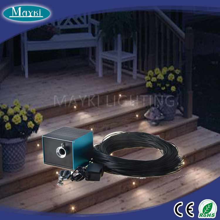 2016 outdoor garden light with safe black pvc costing fiber and led driver