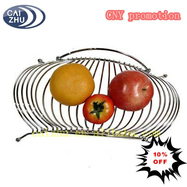 New design kitchen kinds of Wire metal fruit serving baskets