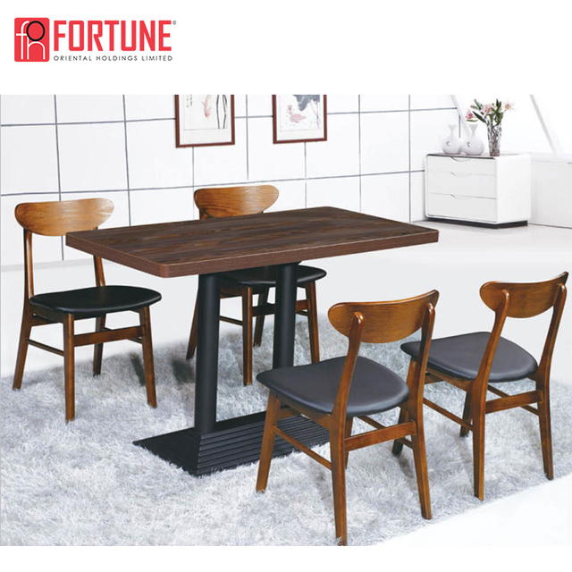 Leather chairs dining table set dining room furniture made in china
