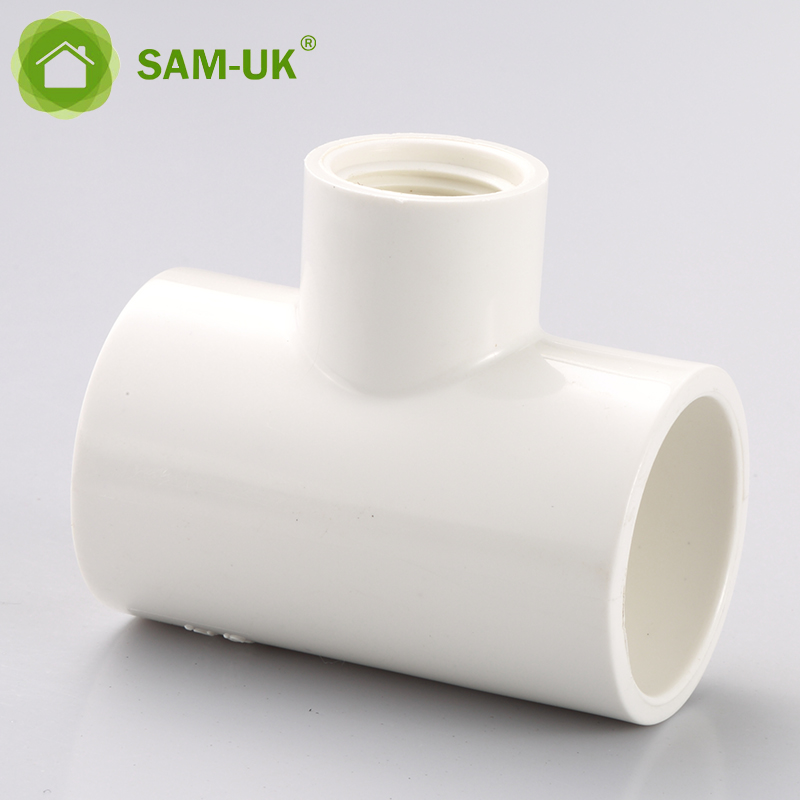 Free Sample Supply PVC Threaded Water Pipe Fittings Female Tees