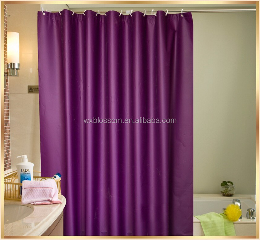 Wholesale Heavy Duty Mildew Resistant Non Toxic Shower Curtain Liner