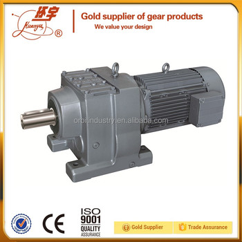 Foot Or Flange Mounted Electric Motor With Reduction Gear