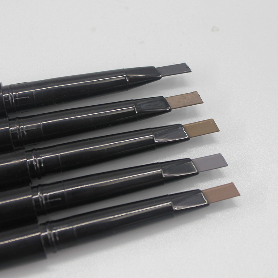 2017 brand new high quality automatic Non-toxic matte waterproof eyebrow pencil with brow comb not blooming