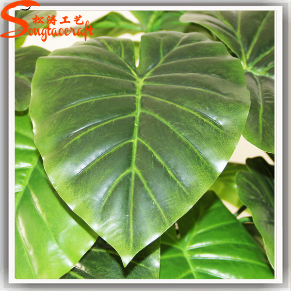 Artificial big green leaves artificial plant for indoor outdoor view artificial big green - Big leaf indoor plants ...