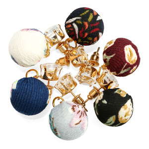 2017 Newest Popular Vintage Gold Plated Cotton Hoop Earrings Drop Ball Pom Pom Earrings