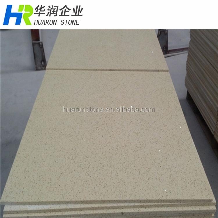 Beige Artificial Granite Flooring Tiles