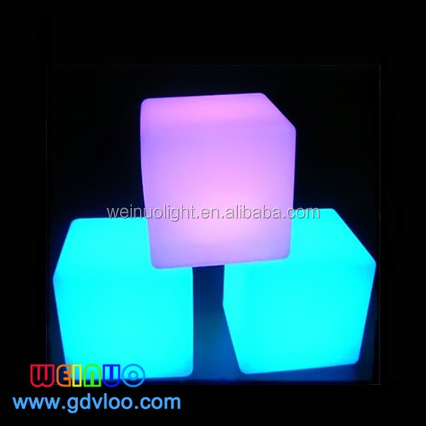 Captivating 40cm Led Cube For Wedding Decoration, Outdoor Led Cube Seat Lighting/led  Cube Chairs