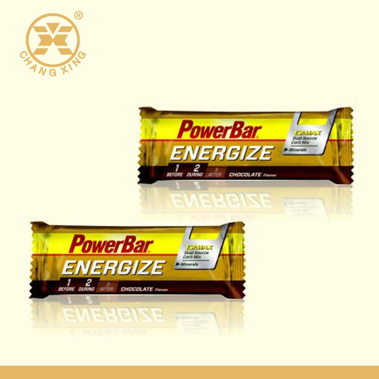アルミ箔プラスチックチョコレートバー包装材料/小さなポーチ用エネルギーバー包装/スナック食品袋