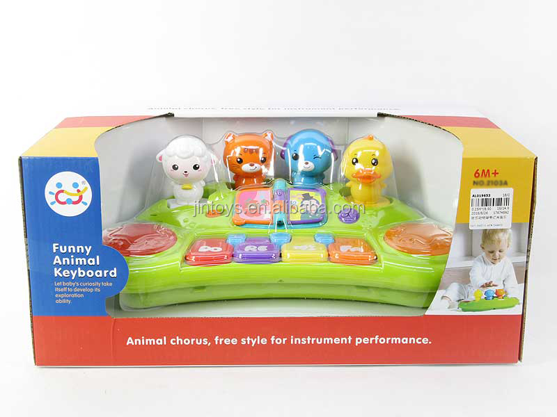 Animal musical organ toys wholesale plastic baby toy electronic organ