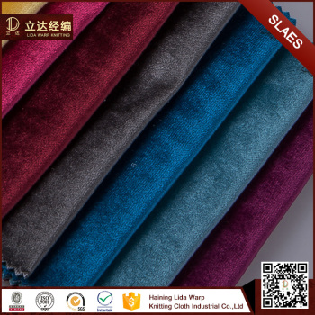 Wide Varieties 100 Polyester Silk Velvet Home Decoration Upholstery